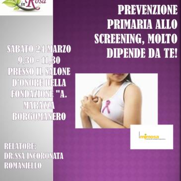 Prenditi cura del tuo seno: incontro del 24 marzo